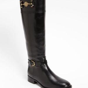 Tory Burch Nadine Black Riding Boots Size 5M